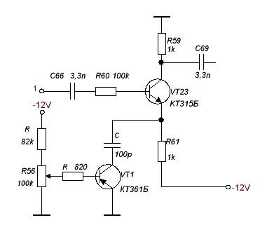 Схема (10. рисунок) предварительного усилителя который встроил в свой трансивер полностью отличается от схемы автора...
