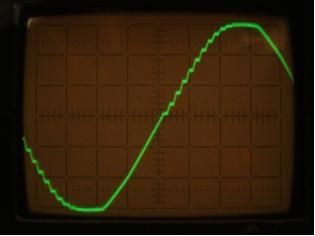 a C kondenzátoron mért oszcillogramma