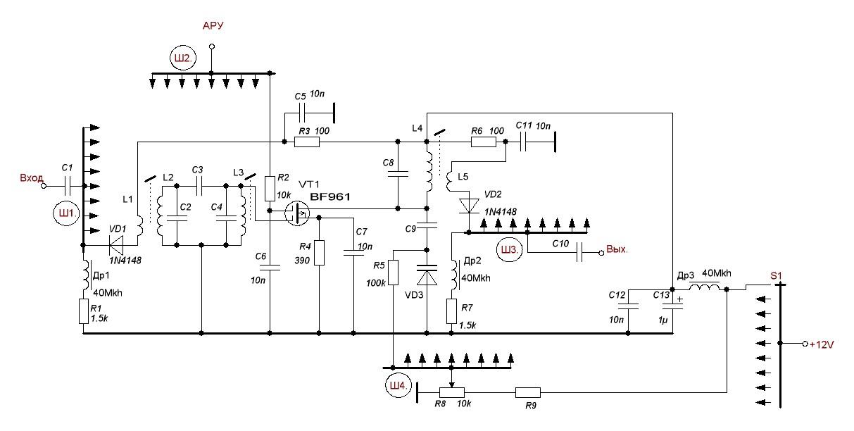 Схема преселектора